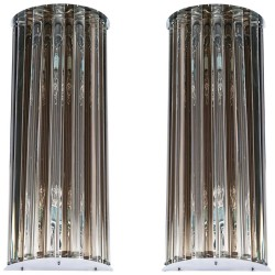 Pair of Italian Murano Glass Sconces, circa 1970s