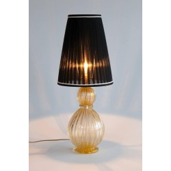Pair of Italian Murano Gold Table Lamps, circa 1980s