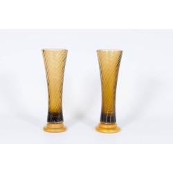 Pair of Italian Murano Glass Vases, attributed to Seguso around 1980s