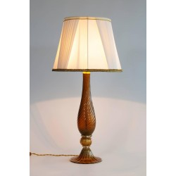 Italian Murano Glass Table Lamp, attributed to Seguso around 1980s