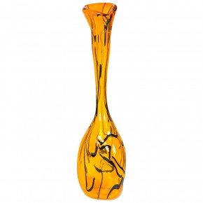 Italian Murano Glass Orange Vase, Circa 1990s
