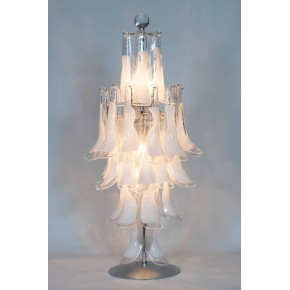 Italian Murano Table Lamp, Mazzega, circa 1960s