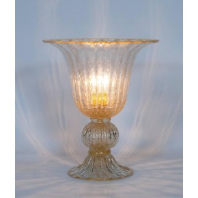 Italian Murano Glass Table Lamp, Attributed to Barovier & Toso, circa 1970s