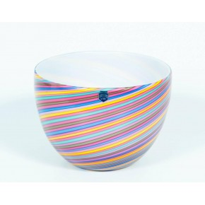 Pair of Italian Murano Glass Bowls Signed Cenedese, 1970s