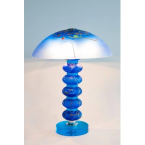 Italian Venetian Murano Glass Table Lamp Signed Cenedese, 1970s