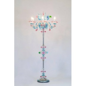 Italian Venetian Murano Glass Floor Lamp, around 1990s