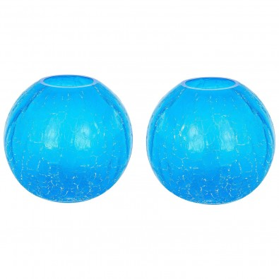 "Pair of Italian Murano Glass ""Spheres"" Vases Signed Cenedese, circa 1970s"