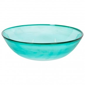 Light-Green Italian Murano Glass Bowl, Signed by Cenedese, Circa 1970s