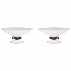 Pair of Italian Murano Glass Bowls, Signed Seguso Vetri d'Arte, Circa 1980s