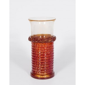 Italian Venetian Murano Glass Vase Attributed to Barovier & Toso, circa 1970s