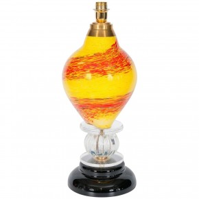 Multicolor Italian Venetian Murano Glass Table Lamp, Circa 1970s