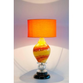Italian Venetian Murano Glass Table Lamp in Multicolor, circa 1970s
