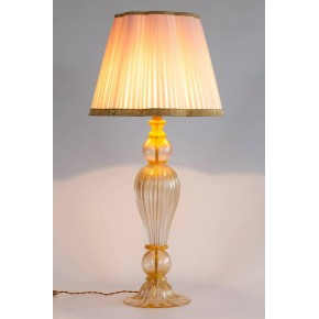 Italian Venetian Murano Glass Table Lamp, Attributed to Seguso, 1970s