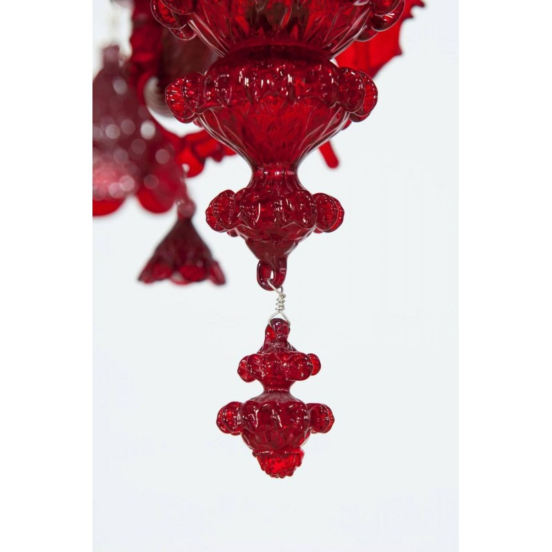 Red italian venetian glass chandelier circa 1990s mozeypictures Choice Image