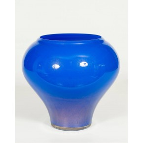 Italian Murano Blue and Gold Vase, circa 1980s