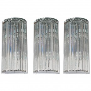 Three Italian Venetian Murano Glass Wall Sconce, Venini, Circa 1960s
