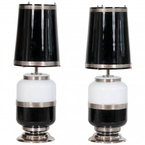 Pair of Italian Venetian Murano Glass Table Lamps, circa 1960s
