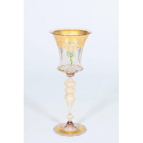 Italian Handblown Goblet in Murano Glass, circa 1970