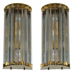 Pair of Italian Sconces, Attributed to Camer Glass, circa 1960