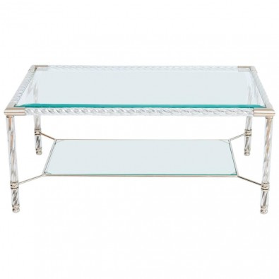 Italian Venetian Murano Glass Cocktail Table in Transparent, circa 1980s