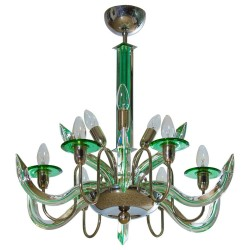 Italian Triedro Chandelier, Attributed to Camer Glass around 1960s