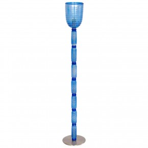 Italian Venetian Floor Lamp in Light-Blue Murano Glass