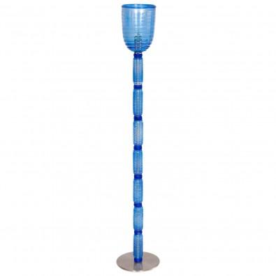 Italian Venetian Floor Lamp in Light-Blue Murano Glass