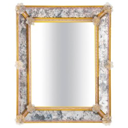 Italian Rectangular Mirror, Attributed to Pauly & Co, circa 1950s