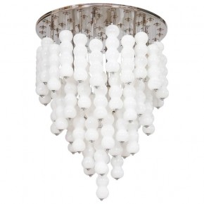 Italian Chandelier in White Murano Glass, Mazzega 1980s