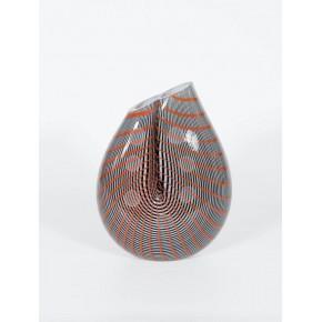 Vase in Murano Glass with color stripes