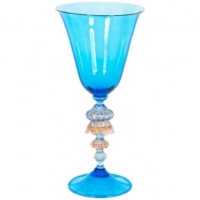 Hand blown Goblet in Murano Glass light blue