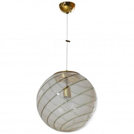 Italian Murano Glass Sphere, Attributed to Venini, circa 1960s