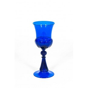 Italian Goblet in Murano Glass Blue