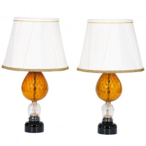 Pair of Italian Venetian Murano Glass Table Lamp, 1970s