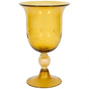 Cup in Murano Glass Amber and Gold