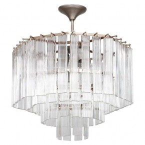 Italian Chandelier in Transparent Murano Glass, 1970s