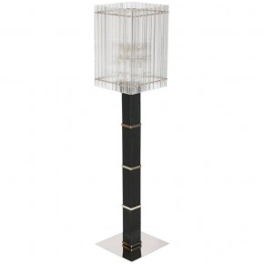 Modern Italian Murano Glass Floor Lamp, color Black and Transparent 1990s