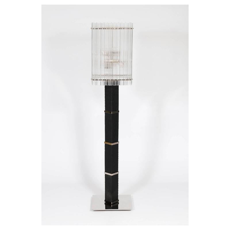 Modern italian floor lamp in murano glass in black and transparent modern italian floor lamp in murano glass in black and transparent 1990s aloadofball Image collections