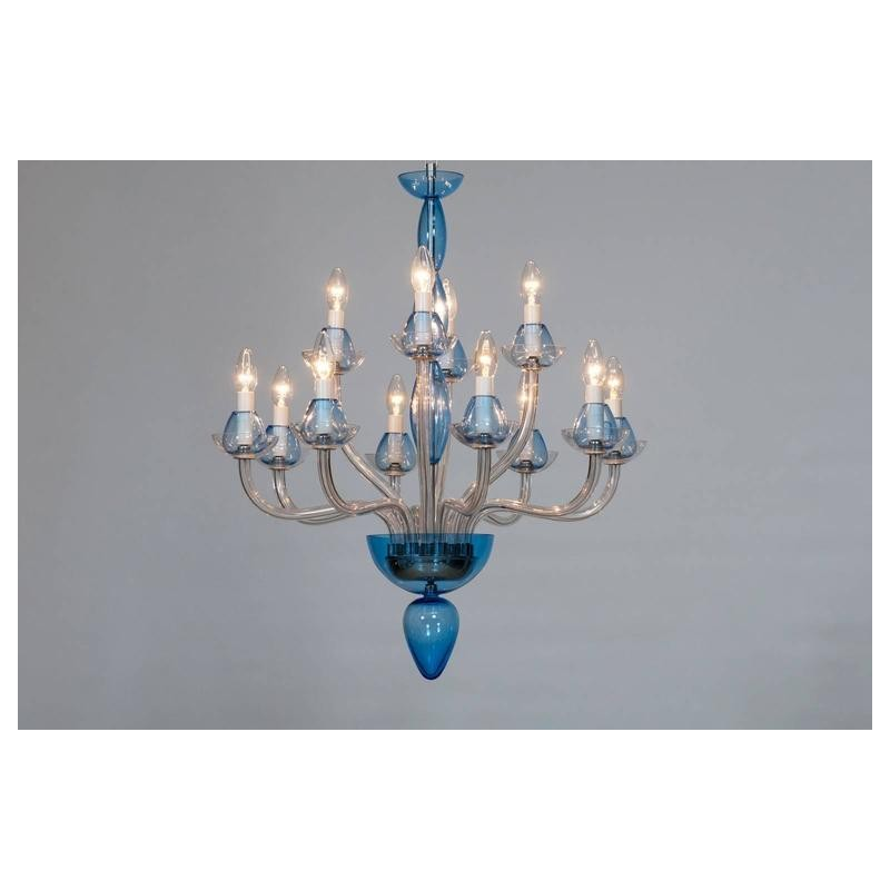 Vintage Modern Italian Chandelier in Murano Glass Transparent and Light-Blue  sc 1 st  Vintage Murano Gallery & Vintage Modern Italian Chandelier in Murano Glass Transparent and ... azcodes.com