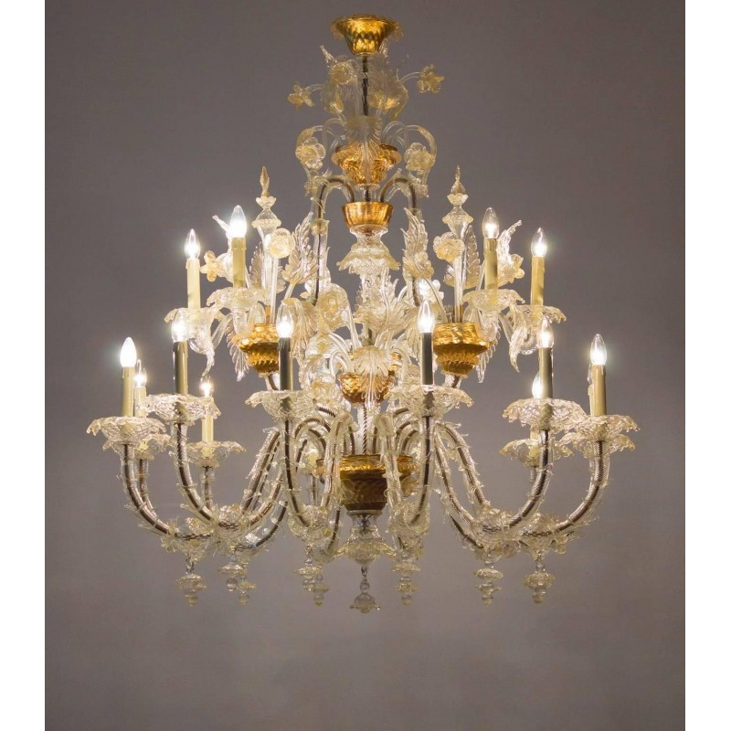 Italians carezzonico chandelier in murano glass seguso 1950s venetian italians carezzonico chandelier in the seguso style circa 1950s mozeypictures Choice Image