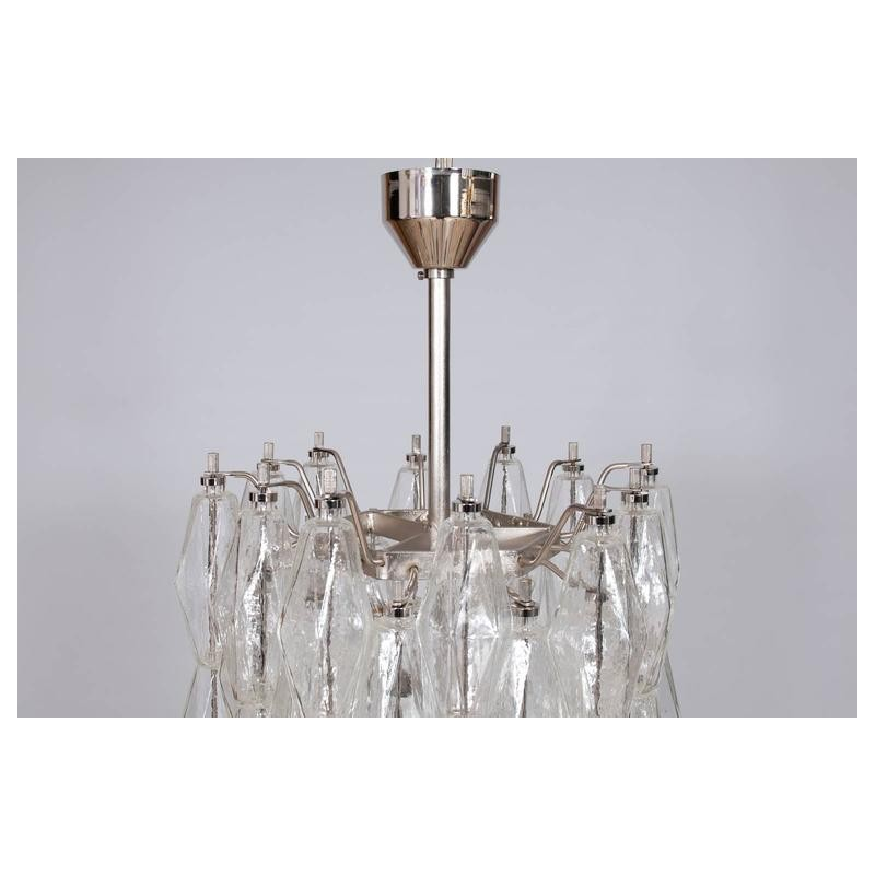 italian modern chandelier in transparent murano glass. Black Bedroom Furniture Sets. Home Design Ideas