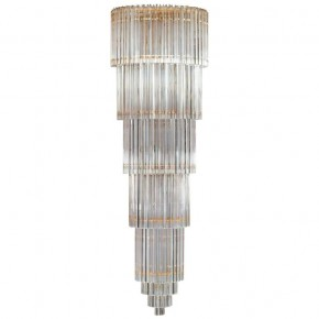 Italian Chandelier in Murano Glass, Transparent, 24-karat Gold, Limited Edition