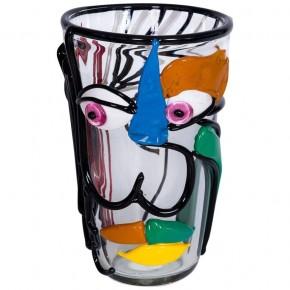 Multicolor Italian Murano Glass Vase, Picasso Style, Cenedese, Circa 1970s