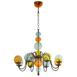 Italian Murano Glass Chandelier, circa from 1960s