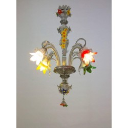 Italian Galliano Ferro Chandeliers, circa from 1970s