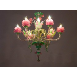 "Italian ""Flower"" Chandelier, circa from 1990"