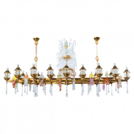 "Italian ""Country Festival"" Chandelier, from, circa 1950s"