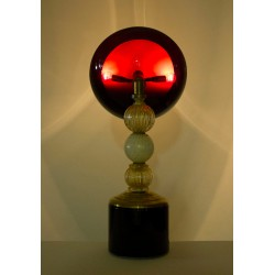 Pair of italian Table lamps in glass, circa 1950s