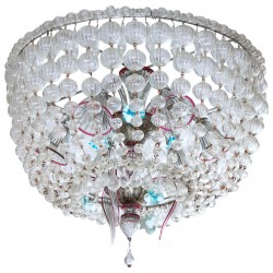 "Italian ""Basket"" in Murano Glass Chandelier, circa from 1960s"
