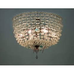 "Italian ""Basket"" Glass Chandelier, circa from 1960s"